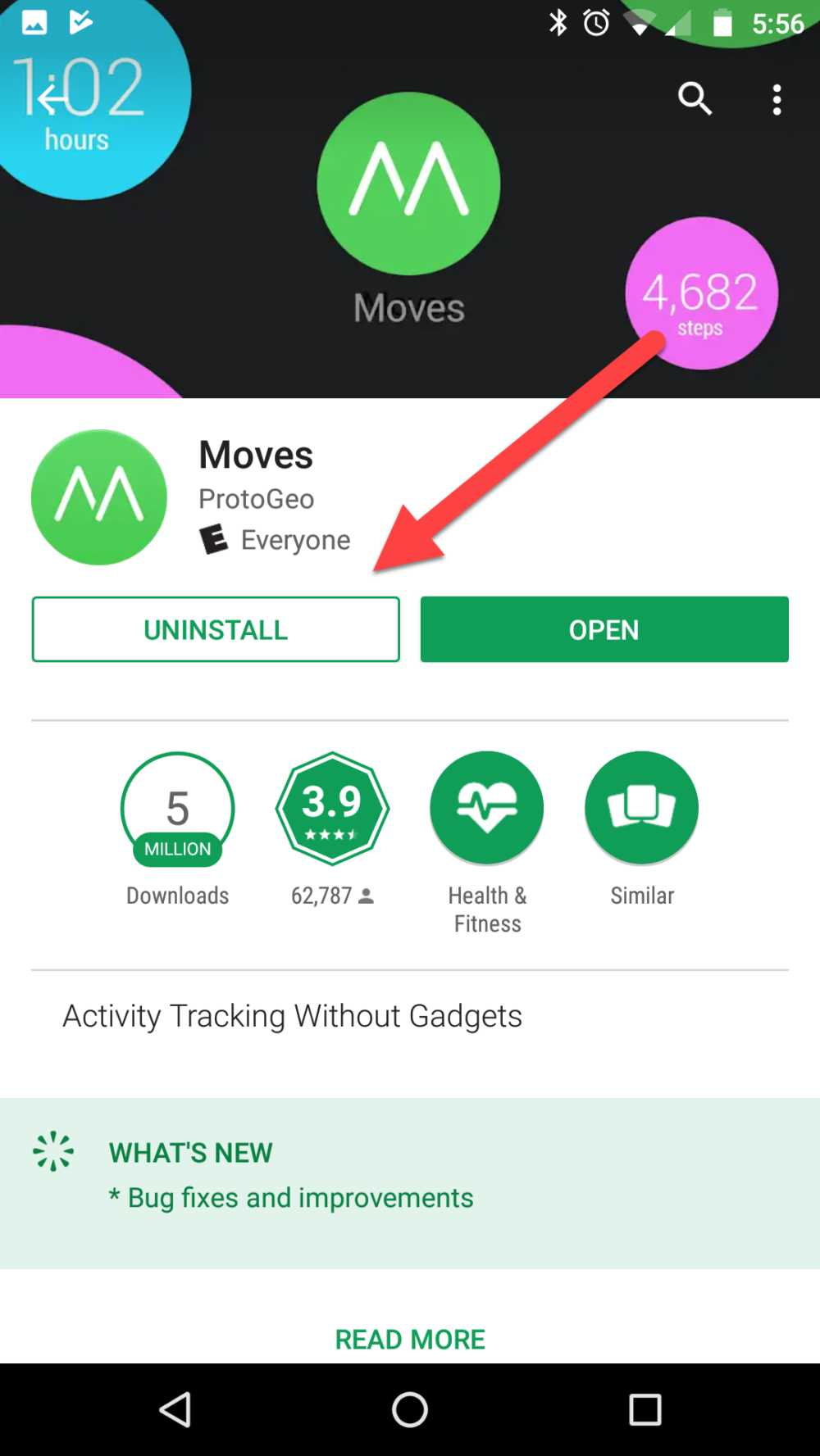 Delete Moves Android Uninstall