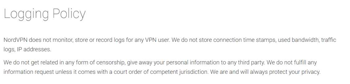 Nordvpn Review Logging Policy
