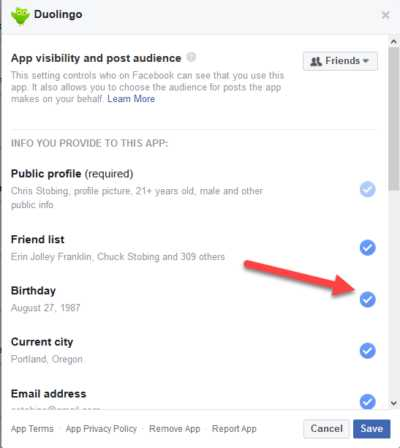 Delete Facebook App Settings Edit
