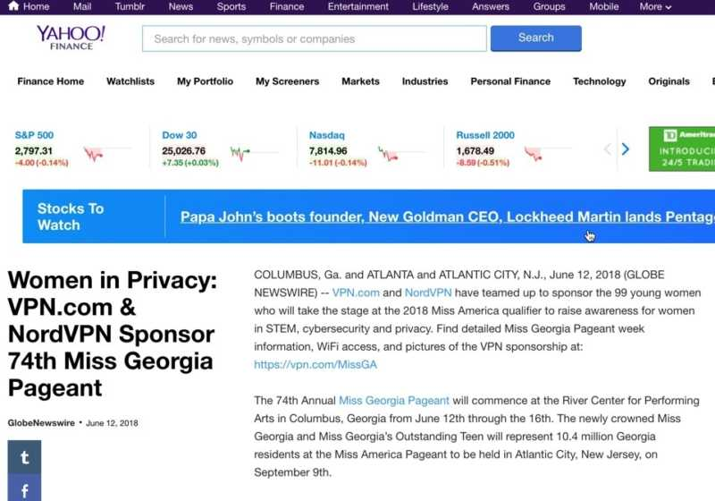 Vpn Women In Privacy Vpn Com Nordvpn Sponsor 74Th Miss Georgia Pageant