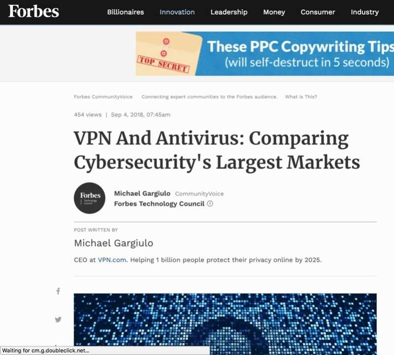 Vpn Antivirus Cybersecurity Largest Markets
